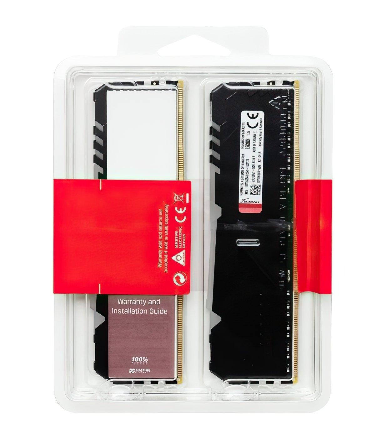 Пам'ять для ПК HyperX DDR4 3200 16GB Fury RGB Black (HX432C16FB3AK2/16) фото4