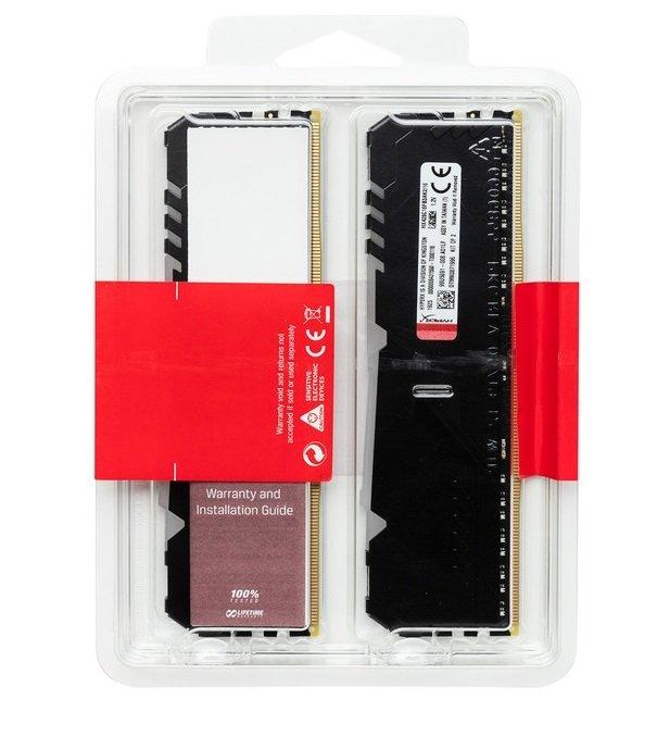 Память для ПК HyperX DDR4 3200 32GB Fury RGB Black (HX432C16FB3AK2/32) фото 4