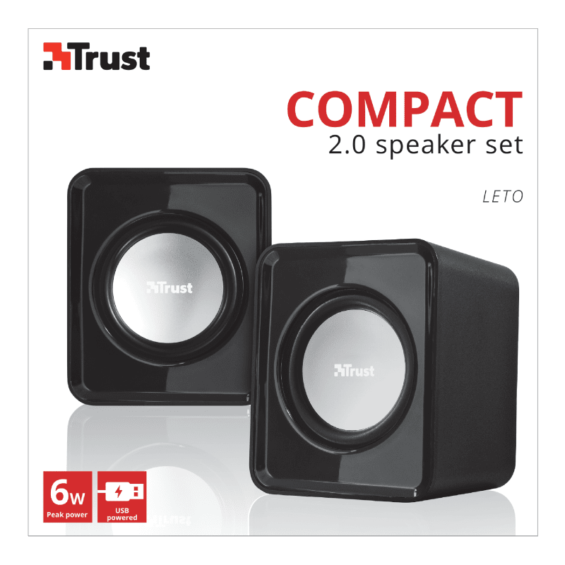 Акустическая система Trust 2.0 Leto Compact Black (19830_) фото