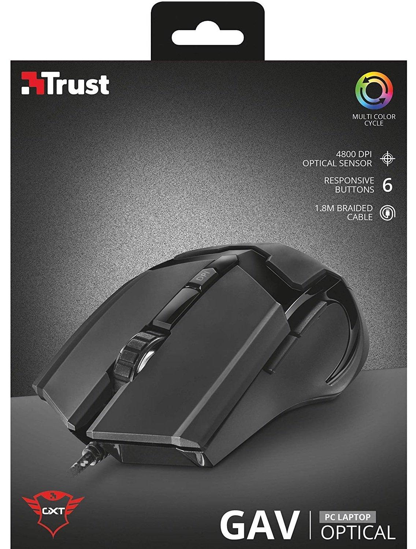Ігрова миша Trust GXT 101 Gav Optical RGB BLACK (21044_)фото