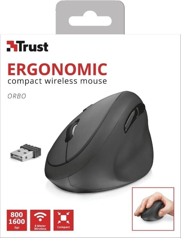 Миша Trust ORBO WL ERGONOMIC BLACK (23002) фото