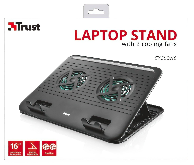 """Підставка для ноутбука Trust Cyclone (16"""") Black фото6"""