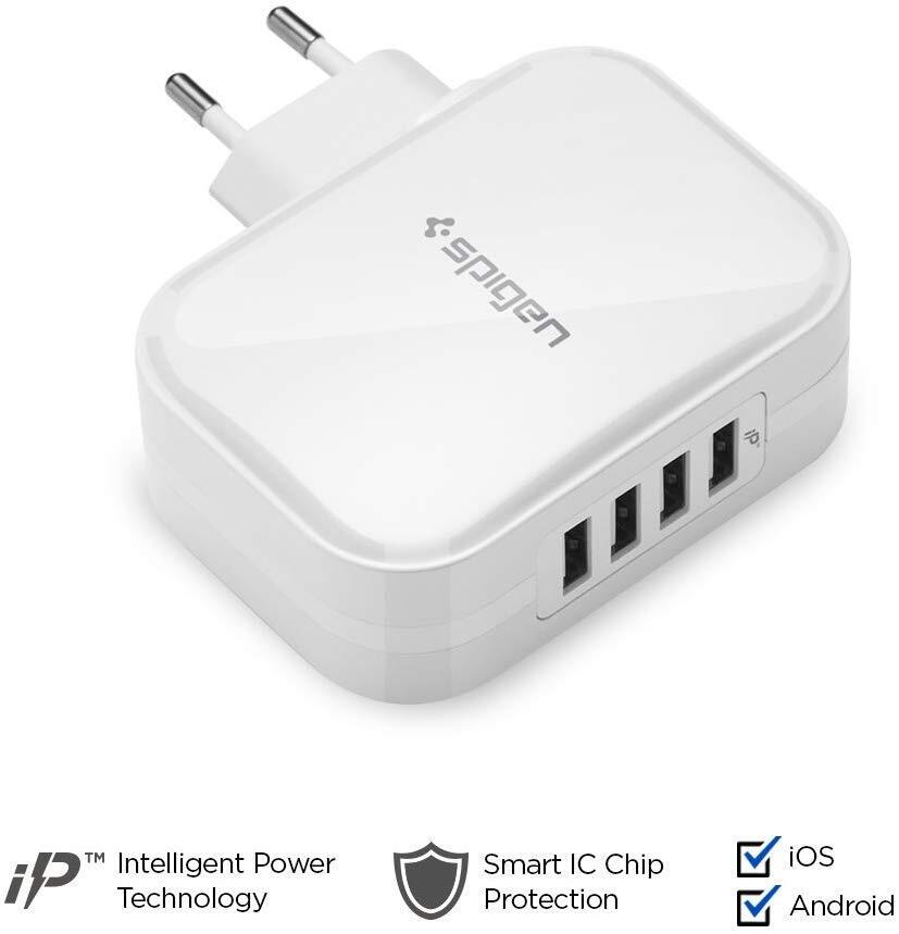 Сетевое зарядное устройство Spigen F401 USB White фото 3