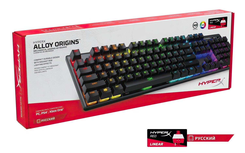 Игровая клавиатура HyperX Alloy Origins USB (HX-KB6RDX-RU) фото