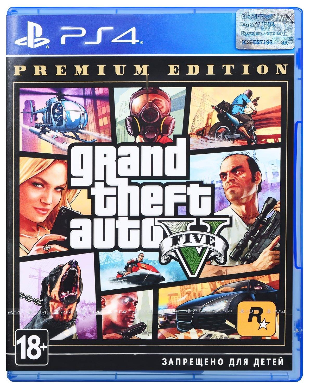 Игра Grand Theft Auto V Premium Online Edition (PS4, Русские субтитры) фото