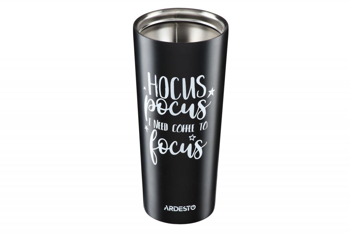 Термочашка Ardesto Coffee time Hocus 450 мл черная (AR2645DMB) фото 3