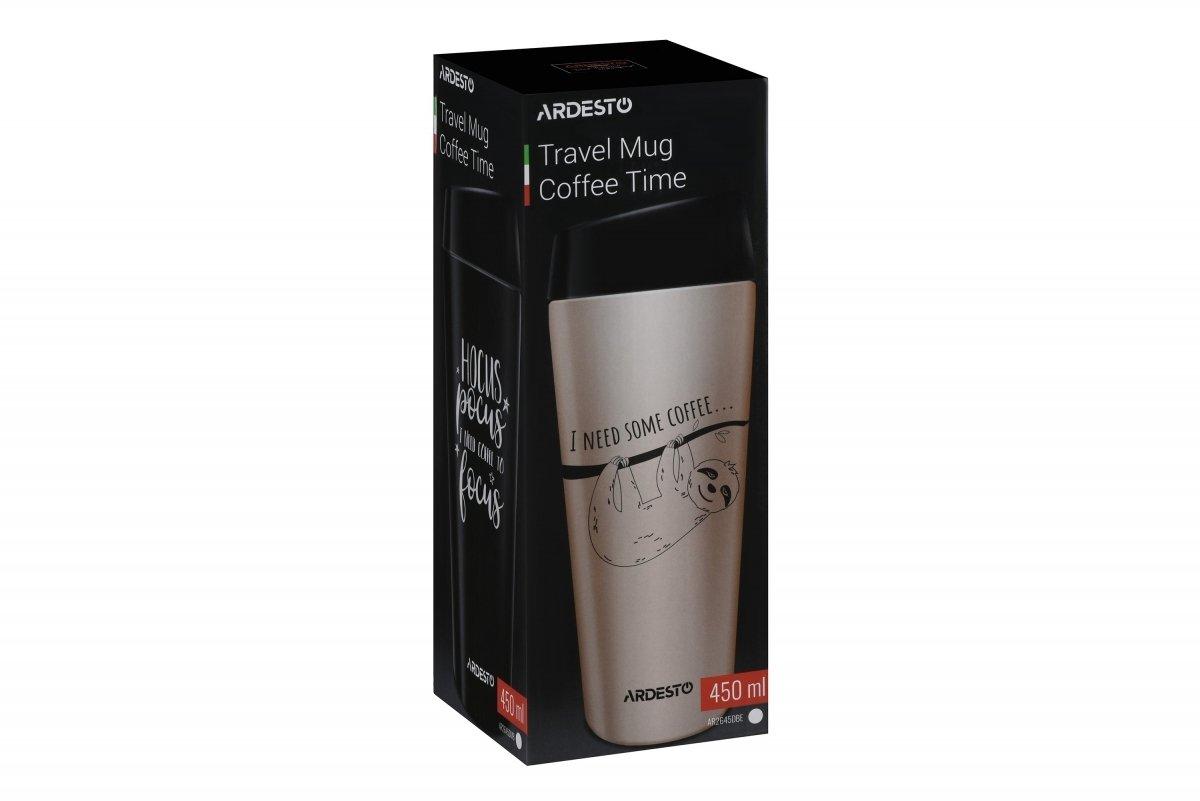 Термочашка Ardesto Coffee time Hocus 450 мл черная (AR2645DMB) фото 6