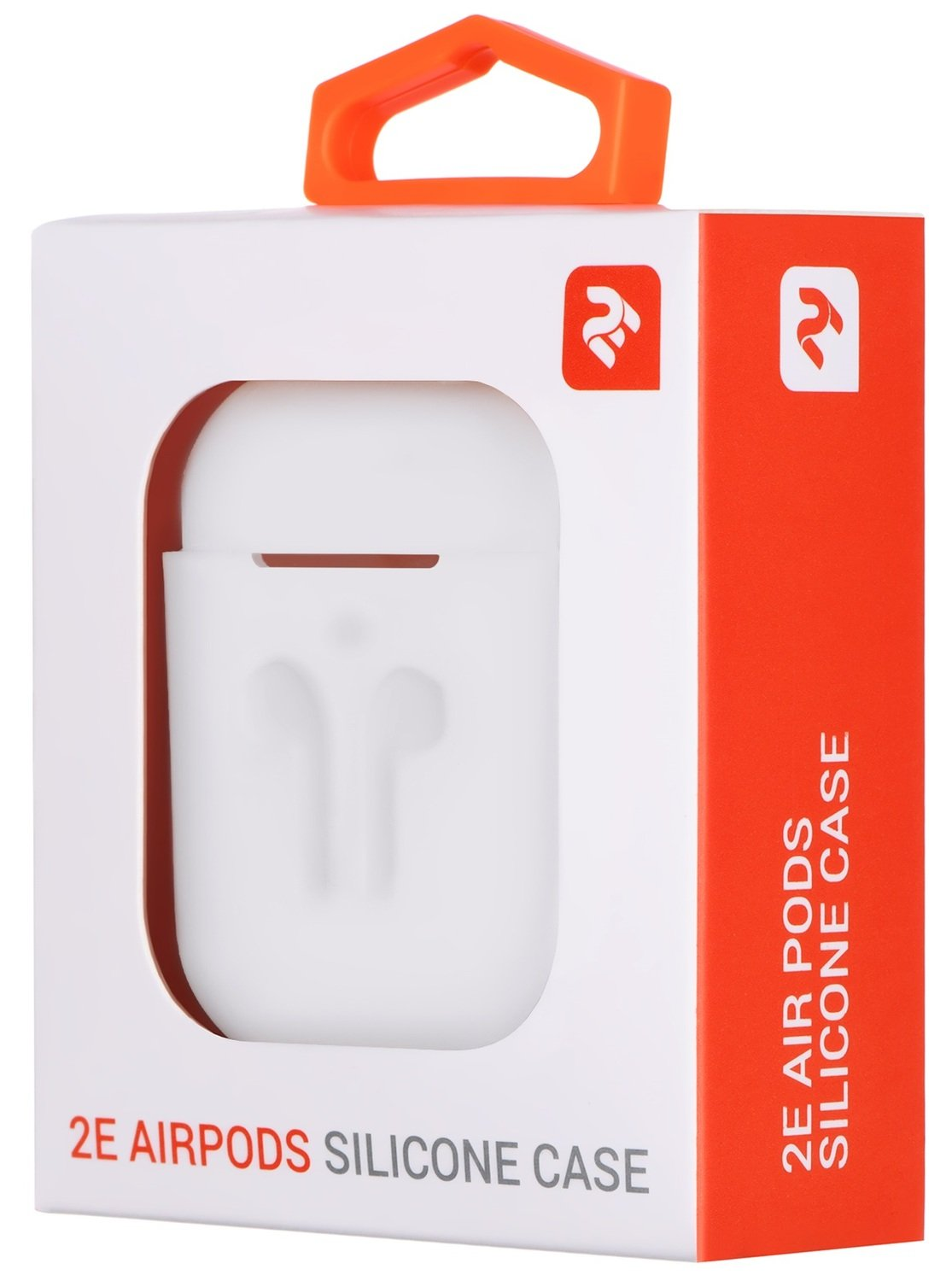 Чехол 2Е для Apple AirPods Pure Color Silicone (3mm) Imprint White фото 3