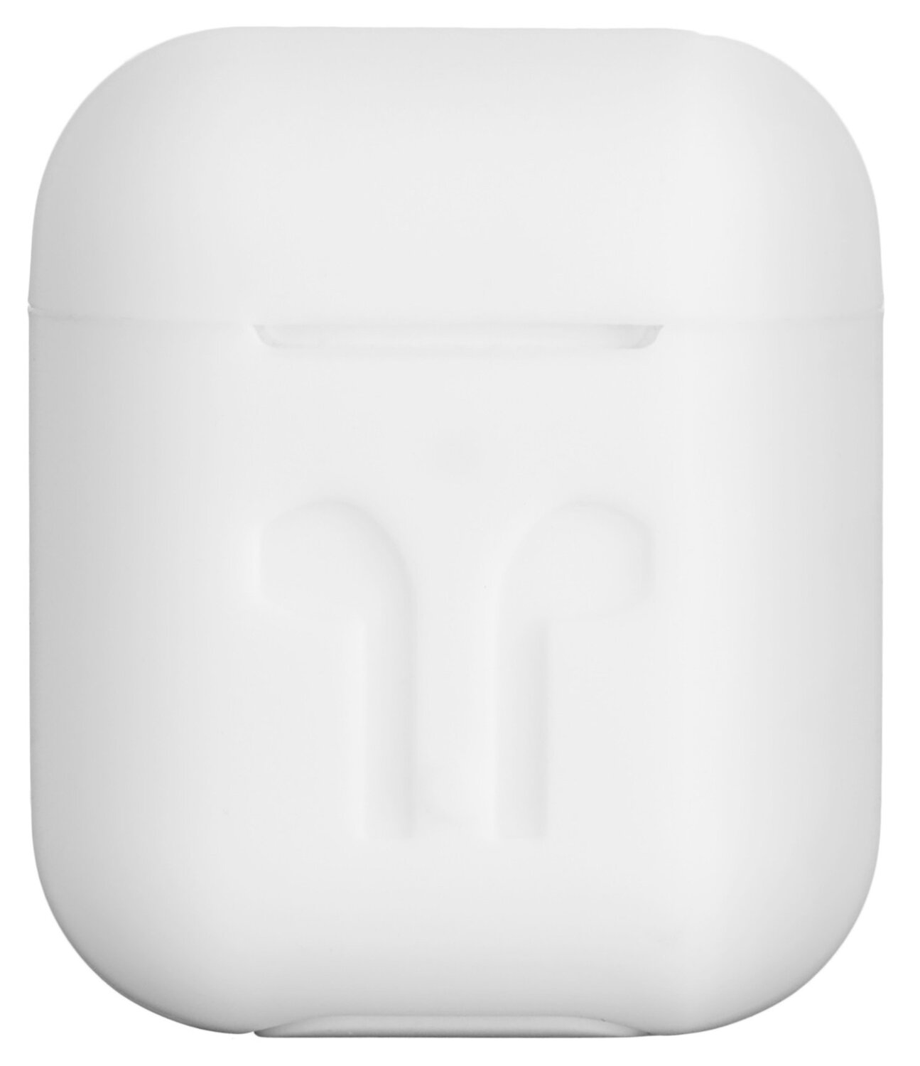 Чехол 2Е для Apple AirPods Pure Color Silicone (3mm) Imprint White фото 2