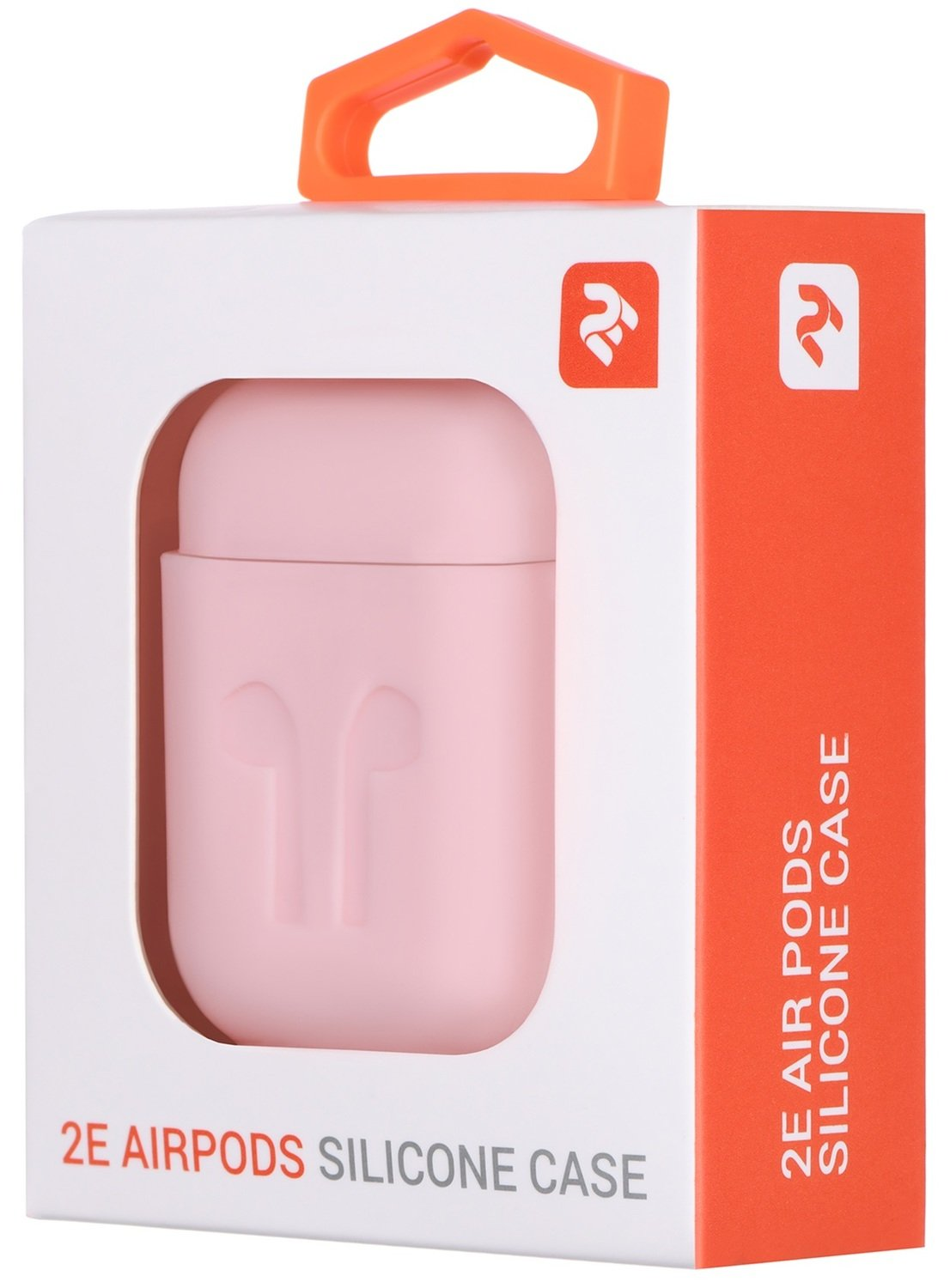 Чехол 2Е для Apple AirPods Pure Color Silicone (1.5mm) Imprint Light pink фото 3