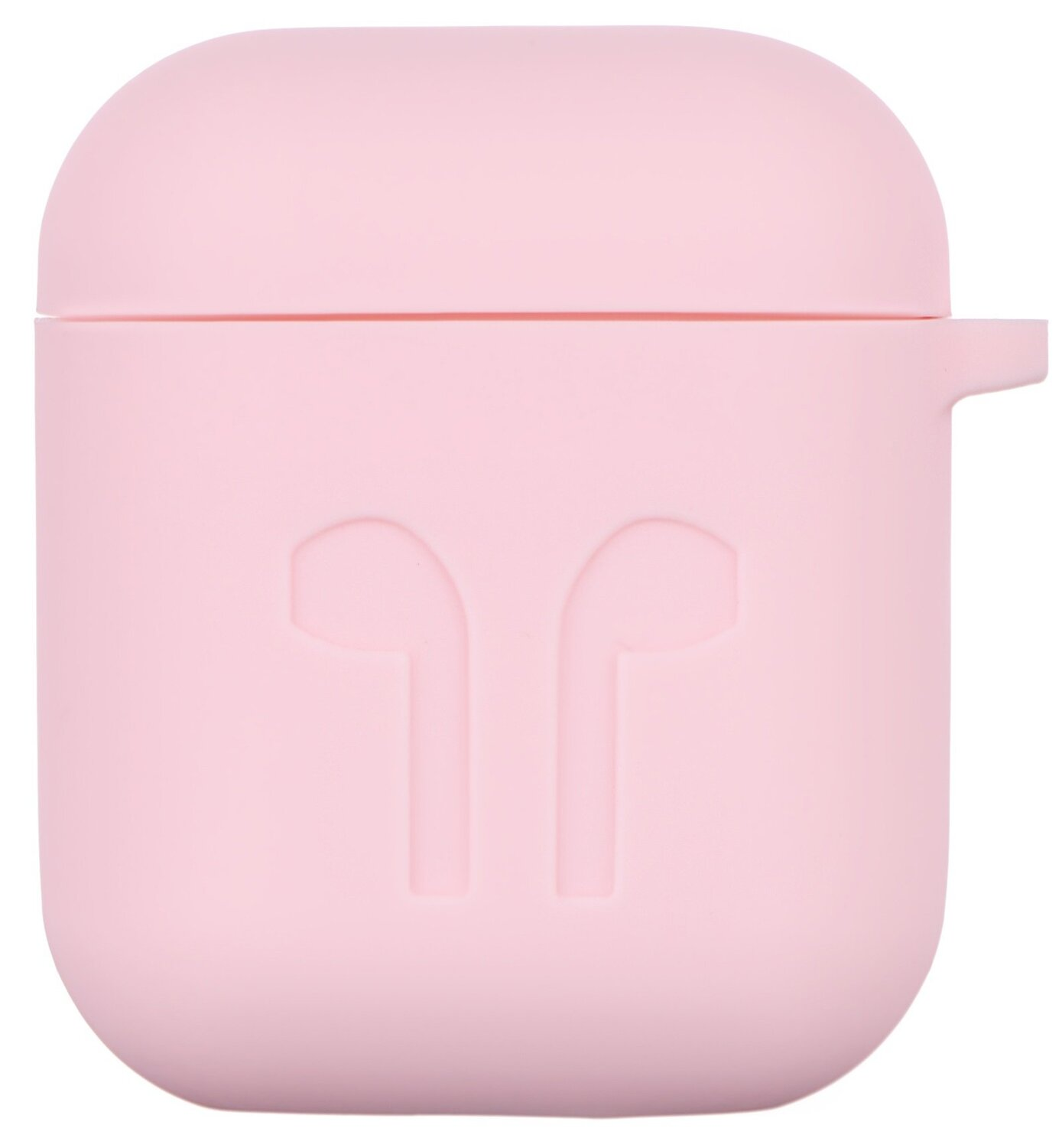 Чехол 2Е для Apple AirPods Pure Color Silicone (1.5mm) Imprint Light pink фото 2