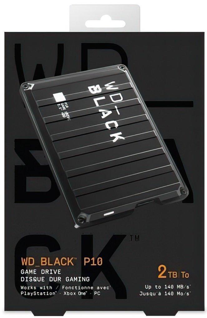 "Жесткий диск 2.5"" WD USB 3.1 P10 2TB Game Drive (WDBA2W0020BBK-WESN) фото"