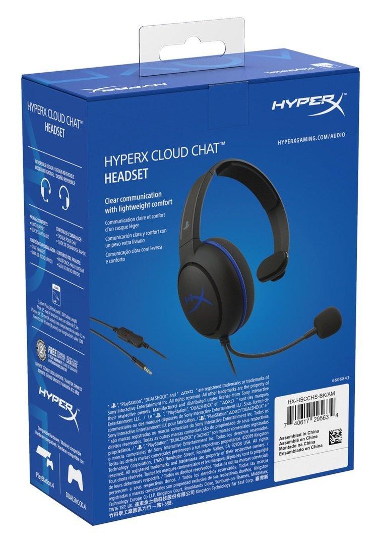 Игровая гарнитура HyperX Cloud Chat для PS4 (HX-HSCCHS-BK/EM) фото 6