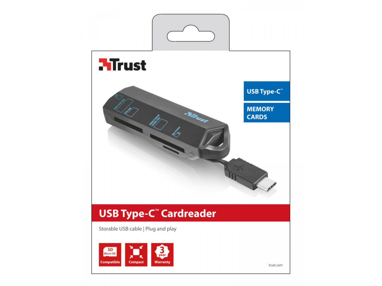 Кардрідер TRUST USB Type-C BLACK фото2