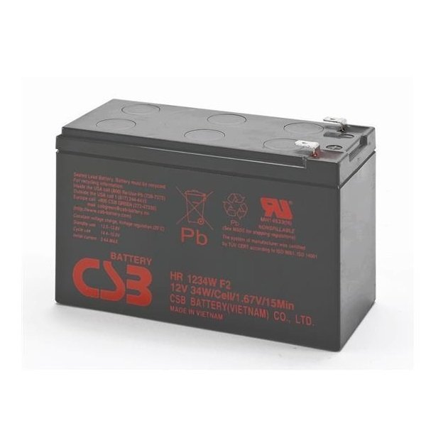 Акумуляторна батарея CSB 12V 9Ah (HR1234WF2) фото