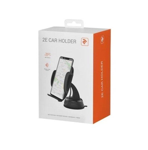 Автомобильный держатель 2E CH0101 для смартфонов Semi-Automatic Black фото 2