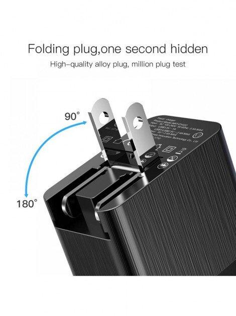 Мережевий зарядний пристрій Baseus Duke Universal Travel на 3 USB 3.4A (EU+UK+US), black фото2
