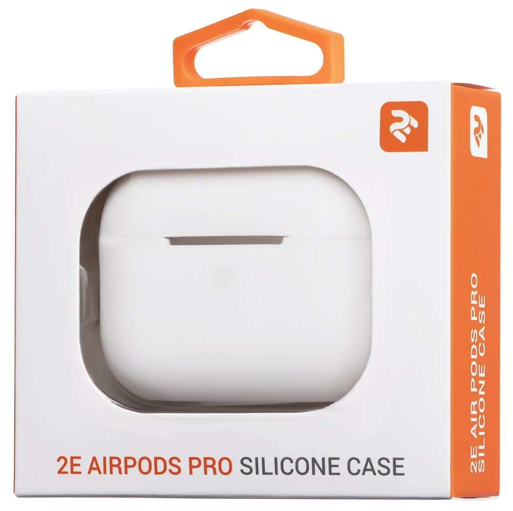 Чехол 2Е для Apple AirPods Pro Pure Color Silicone (2.5mm) White фото 4