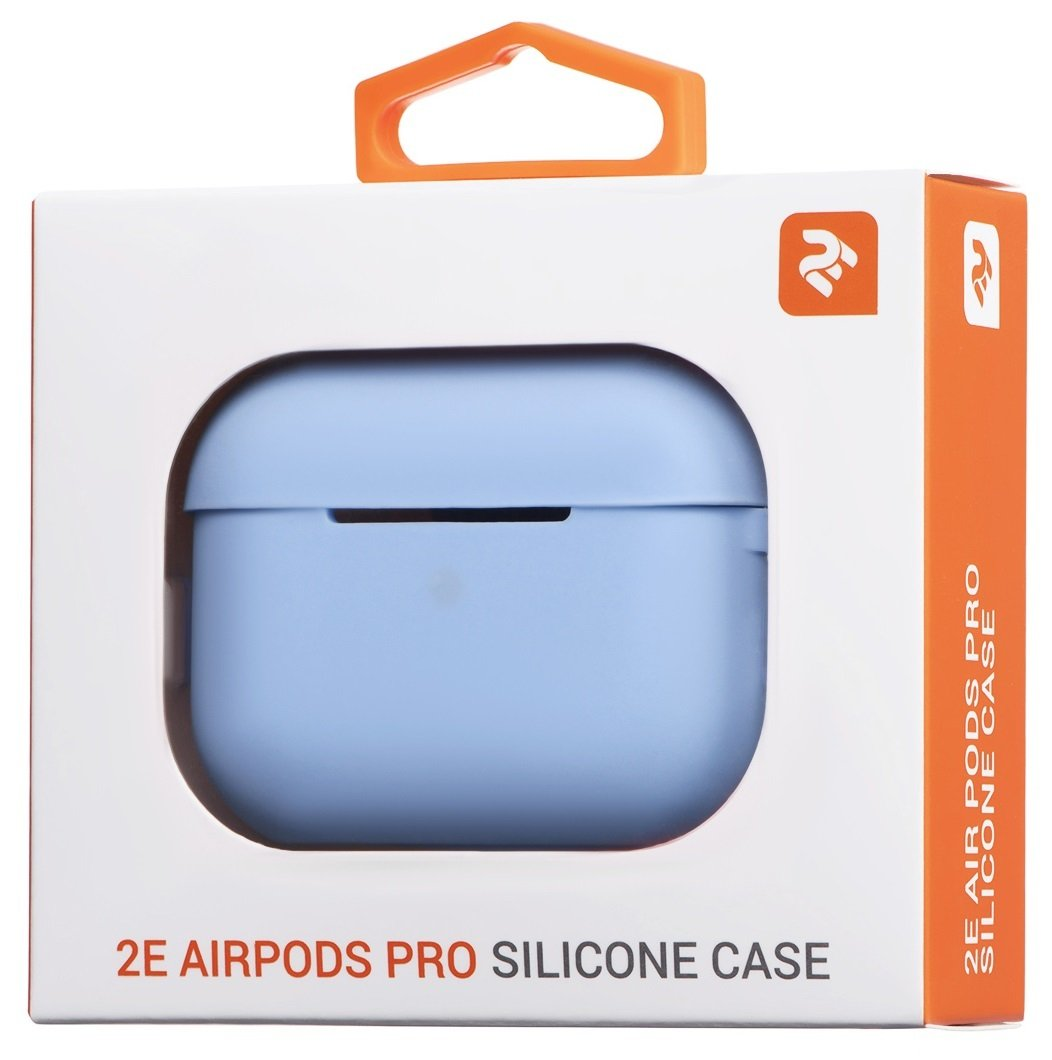 Чехол 2Е для Apple AirPods Pro Pure Color Silicone (2.5mm) Sky Blue фото 4