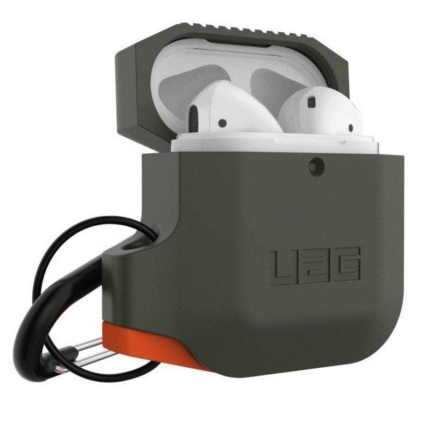 Чехол UAG для Airpods Silicone Olive Drab/Orange (10185E117297) фото 2