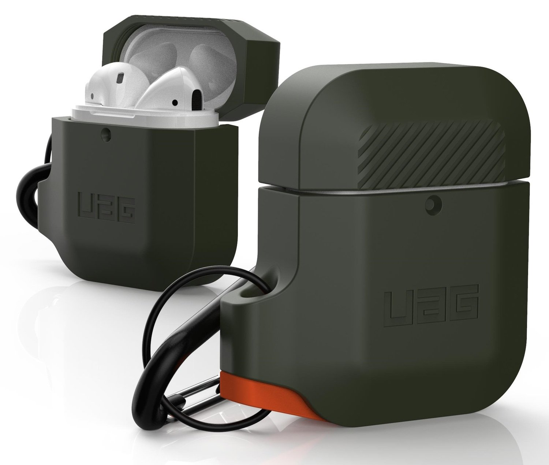 Чехол UAG для Airpods Silicone Olive Drab/Orange (10185E117297) фото 3