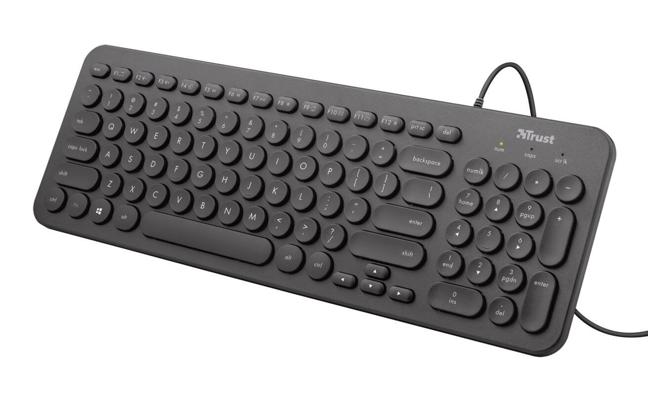 Клавиатура Trust Muto Silent USB Black (23408_TRUST) фото