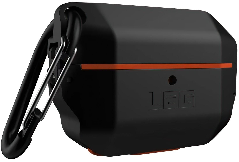 Чехол UAG для Airpods Pro Hardcase Black/Orange (10225F114097) фото 4