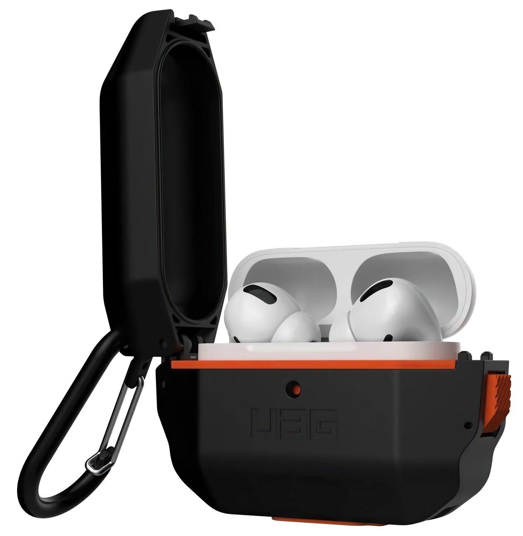 Чехол UAG для Airpods Pro Hardcase Black/Orange (10225F114097) фото 2