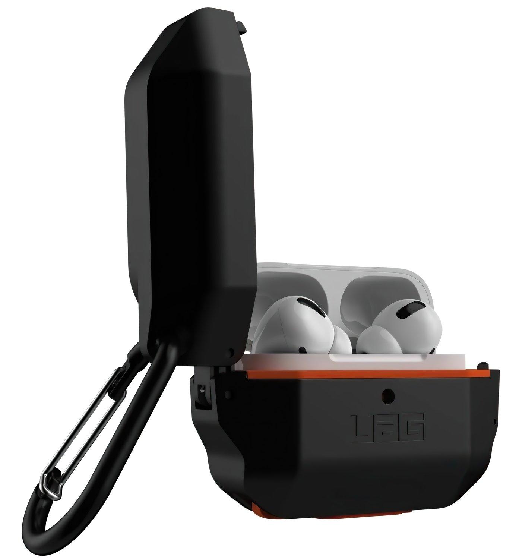 Чехол UAG для Airpods Pro Hardcase Black/Orange (10225F114097) фото 3