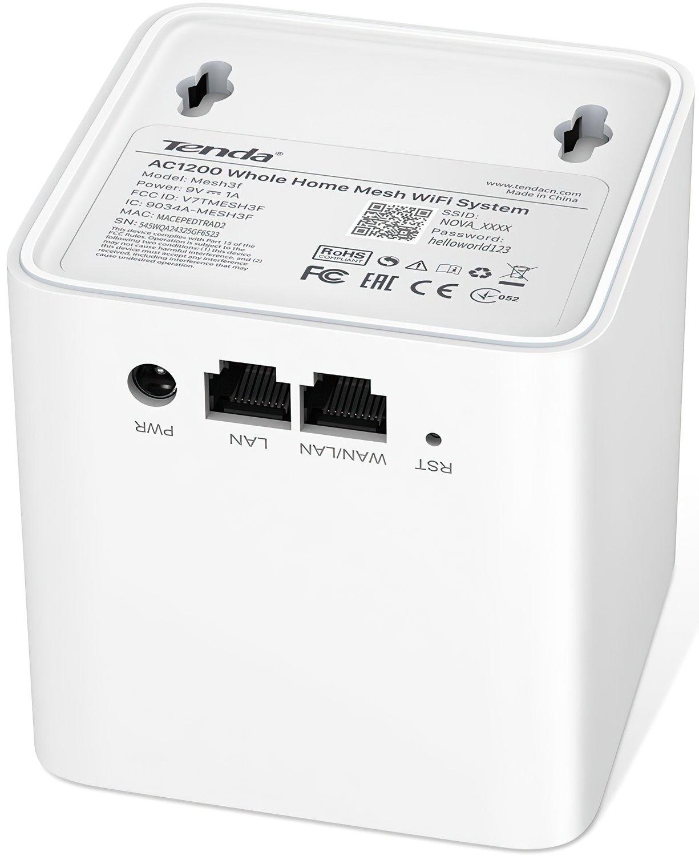 Беспроводная система Wi-Fi TENDA MW3 NOVA MESH (1шт) (MW3-KIT-1) фото 2