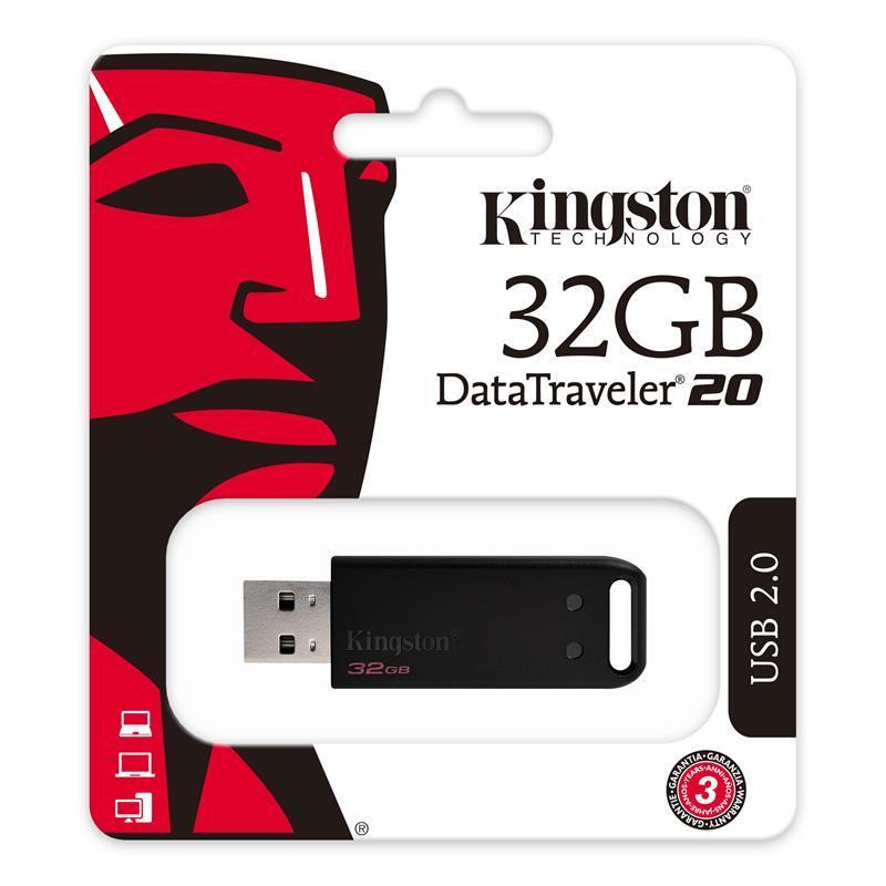 Накопичувач USB 2.0 KINGSTON DT20 32GB (DT20/32GB) фото