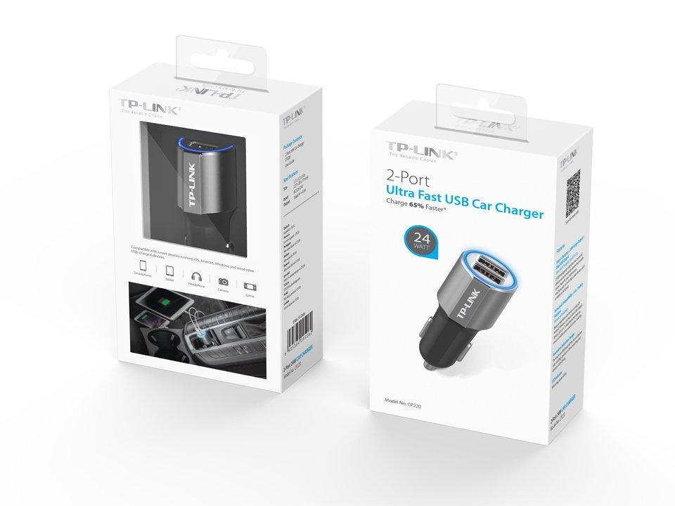 Автомобільний зарядний пристрій TP-LINK CP220 фото5