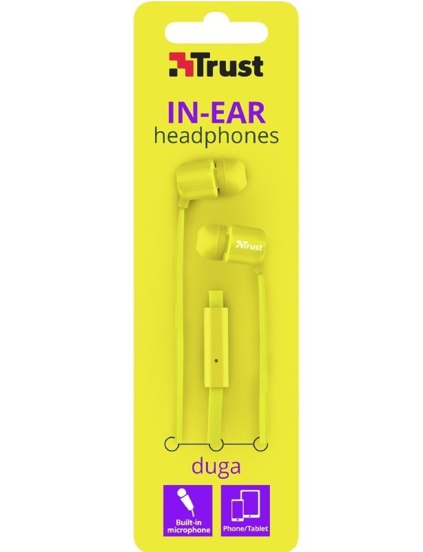 Навушники Trust Duga Mic Neon Yellowфото4