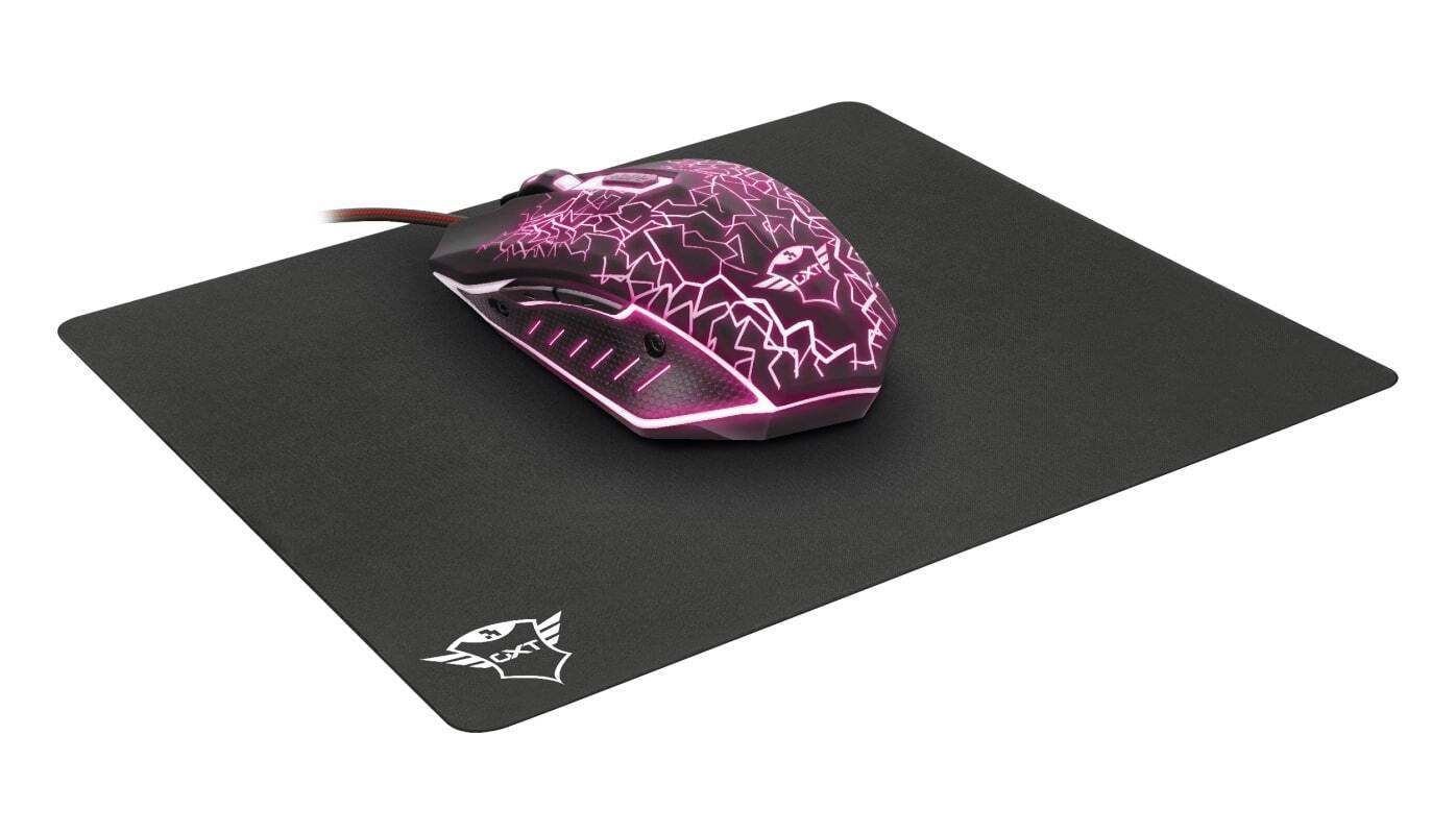 Миша+килимок TRUST GXT 783 Izza Gaming Mouse & Mouse Pad Black (22736_TRUST) фото