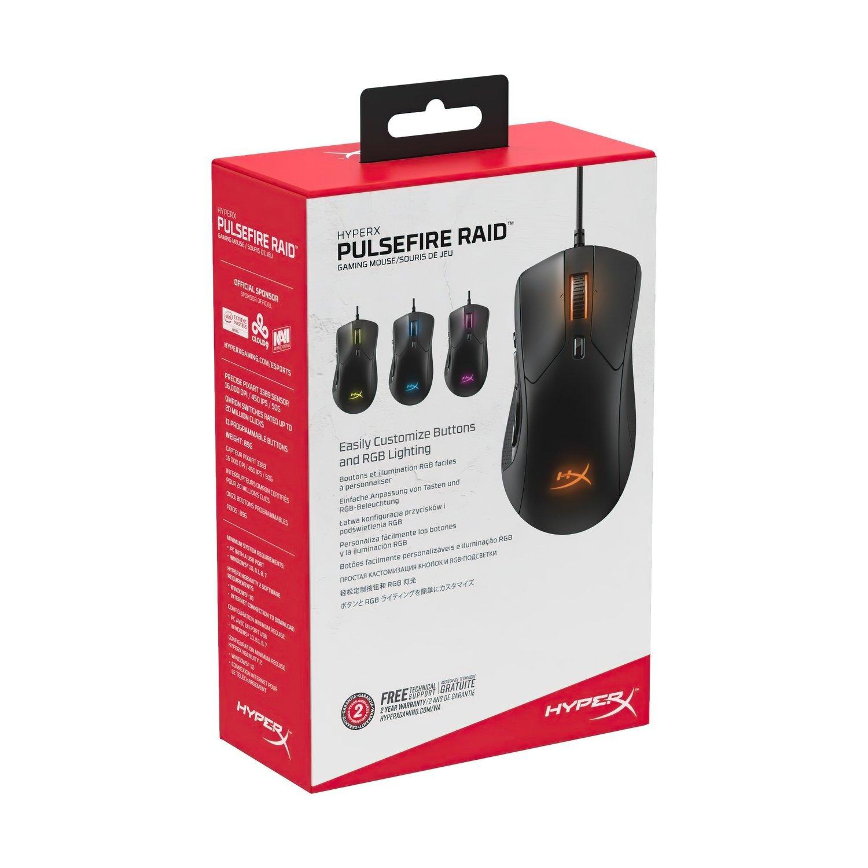 Ігрова мишка HyperX Pulsefire Raid USB Black (HX-MC005Bфото