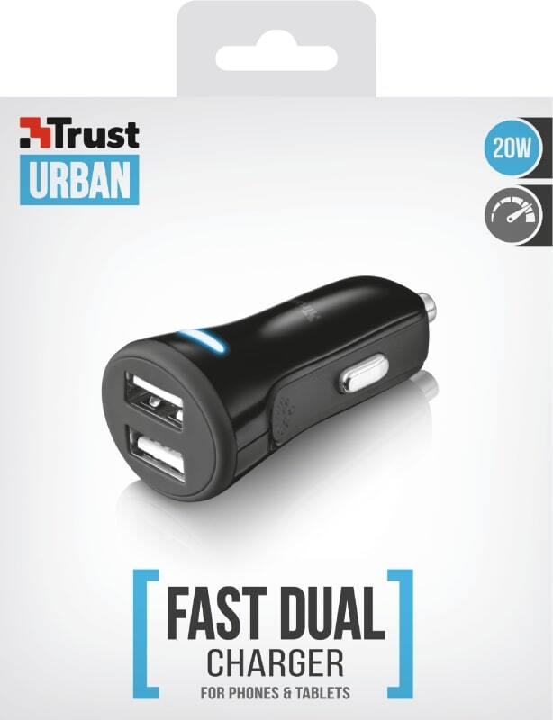 Автомобильное ЗУ TRUST 20W Car Charger with 2 USB port фото 5
