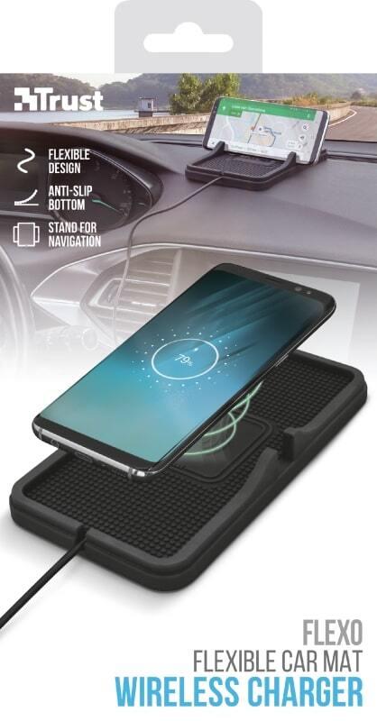 Бездротове ЗУ Trust Flexo для автомобіля 5W Black фото7
