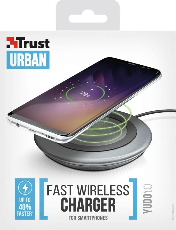 Беспроводное ЗУ Trust Yudo10 Fast Wireless Charger 5W Black фото 6