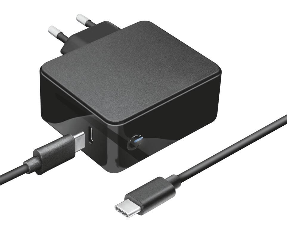 Сетевое зарядное устройство Trust Summa 45W Universal USB-C Charger Black фото 2