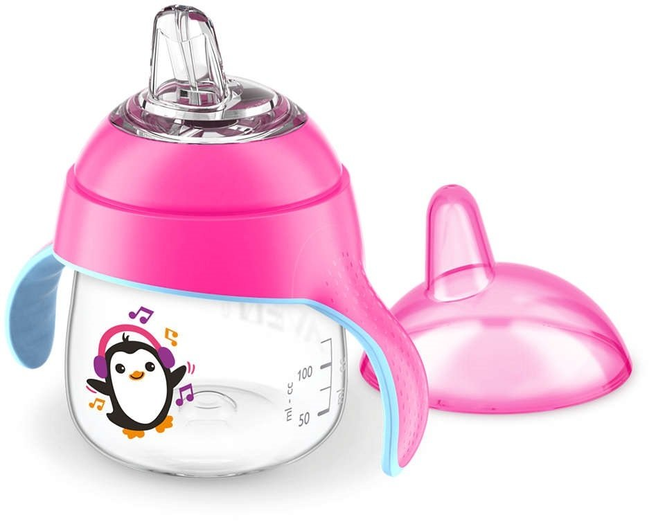 Чашка-непроливайка с носиком Avent 200мл 6 мес+ розовая (SCF746/03) фото 2