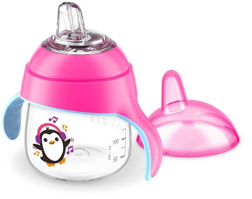 Чашка-непроливайка с носиком Avent 260мл 12 мес+ розовая (SCF747/03) фото 3