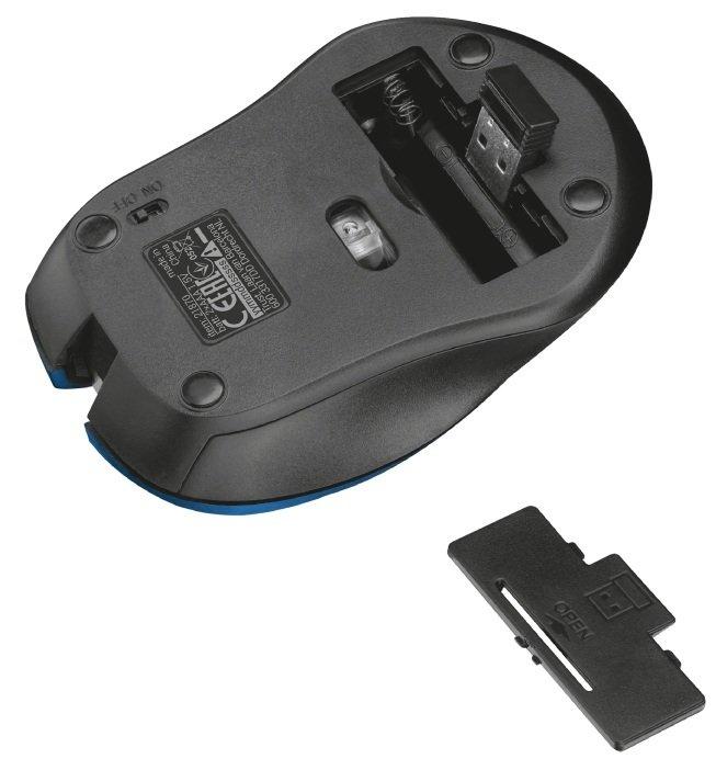 Миша TRUST Mydo Silent Click Wireless Mouse Blue (21870_TRUST) фото