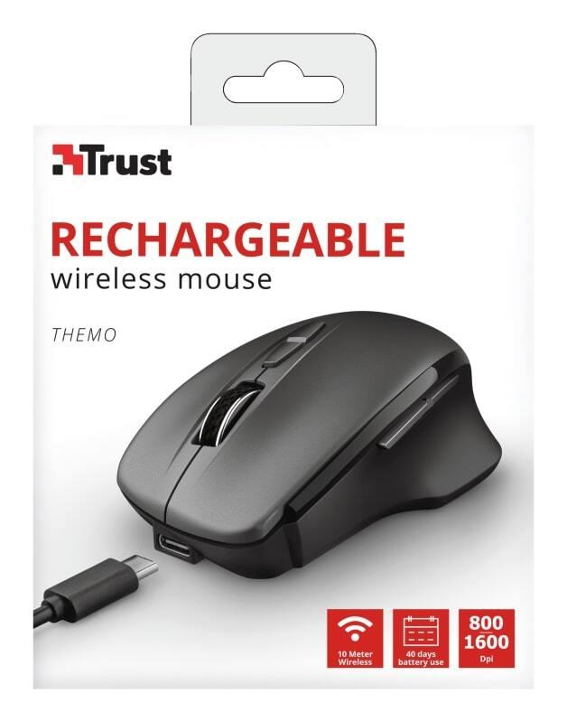 Миша Trust Themo Rechargeable WL Black (23340_Trust)фото