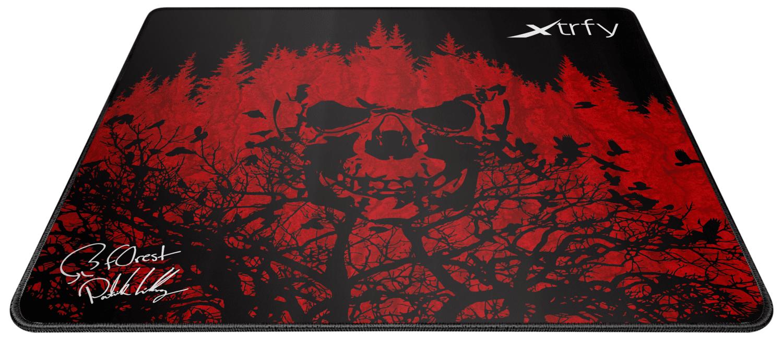 Ігрова поверхня Xtrfy XTP1 f0rest Large, Black-Red (XTP1-L4-FO-1) фото