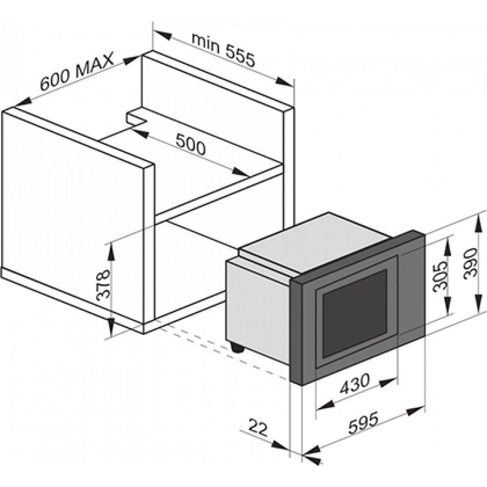 Встраиваемая микроволновая печь Kaiser EM2545AD фото