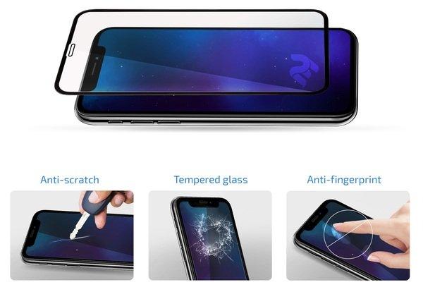 Комплект защитных стёкол 2E для Samsung Galaxy Note 10 lite Black border фото 3