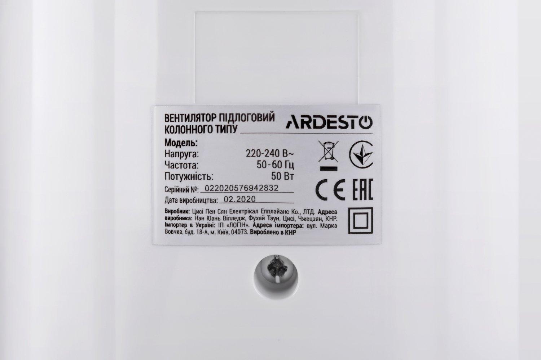 Вентилятор напольный Ardesto FNT-R36X1W фото 9