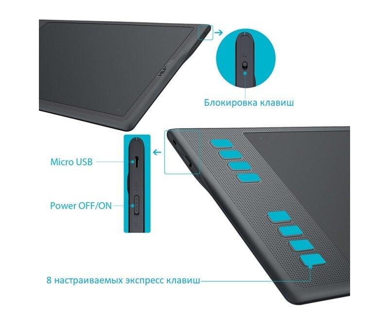Графічний планшет Huion Q11k V2 фото