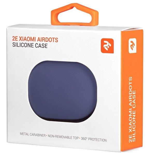 Чехол 2Е для Xiaomi AirDots Pure Color Silicone (1.5mm) Lavender фото 3