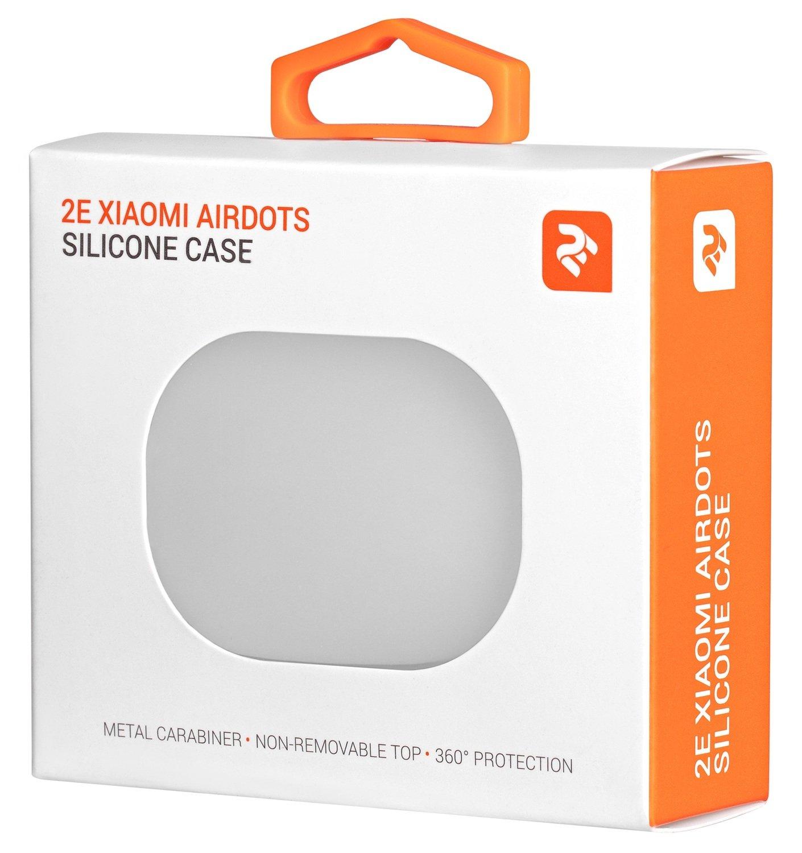 Чехол 2Е для Xiaomi AirDots Pure Color Silicone (1.5mm) White фото 3